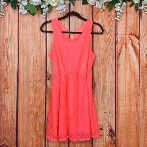 Bella D Eyelet Cutout Aline Beach Dress 1059CH3